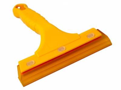 Гибкий силиконовый ракель, с ручкой, желтый, 160 x 140мм