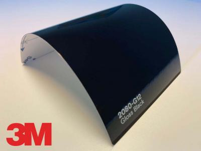 3M™ Wrap Film 2080-G12, Gloss Black, 1,524*22,86