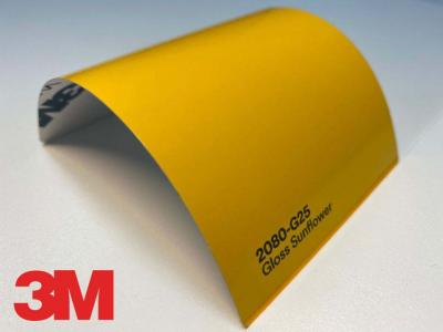 3M™ Wrap Film 2080-G25, Gloss Sunflower Yellow, 60 in x 25 yd