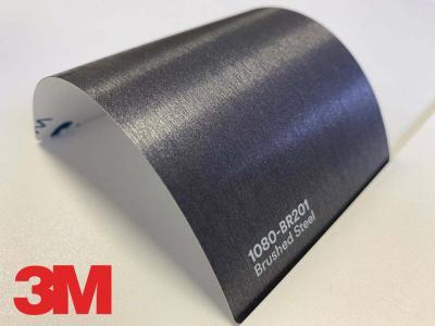 3M™ Wrap Film Series 1080-BR201, Brushed Steel, 60 in x 25 yd