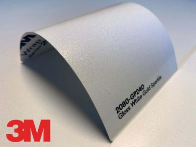 3M™ Wrap Film Series 2080-GP240, Gloss White Gold Sparkle, 60 in x 25 yd