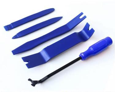 Набор пластиковых съемников для панелей облицовки, 5 предметов