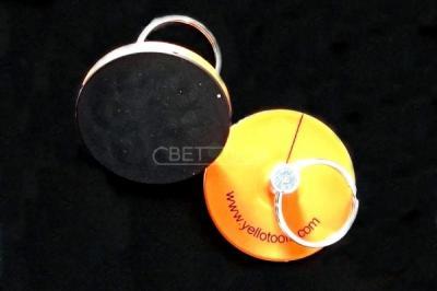 Магнит FlatMag HD с кольцом, оранжевый