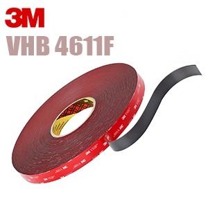 4611F 3M Лента монтажная двусторонняя, серая, 19 мм х 33 м (основа-вспененный акрил, адгезив-акрил)